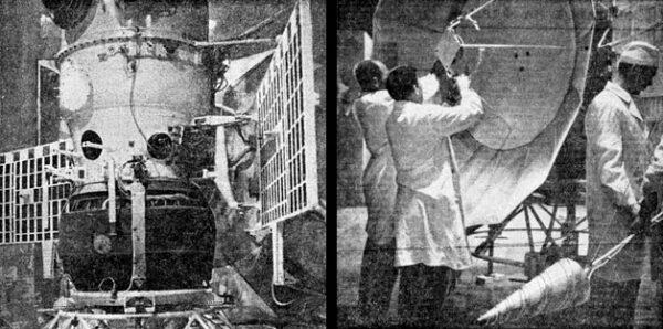 Přistávací pouzdro Veněry 4 a práce na parabolické anténě