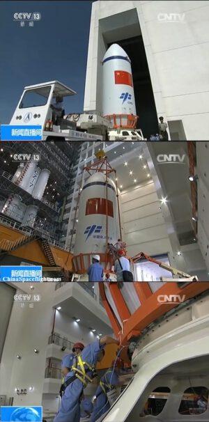 Integrace nákladu pro premiérovou misi rakety Dlouhý pochod 7