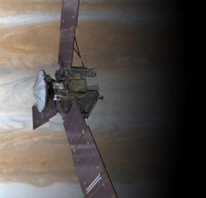 Sonda JUNO u Jupitera v představách umělce