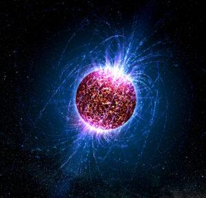 Umělecká představa neutronové hvězdy