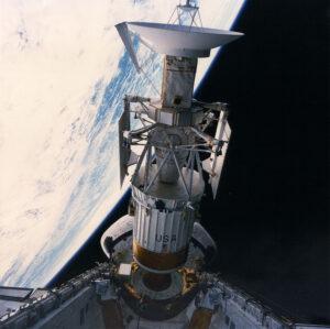 Vypuštění sondy Magellyn z nákladového prostoru raketoplánu Atlantis. NASA