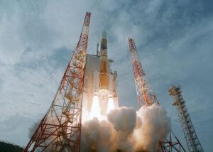 Raketa H-IIA s Akatsuki a Ikarem. Zdroj: JAXA