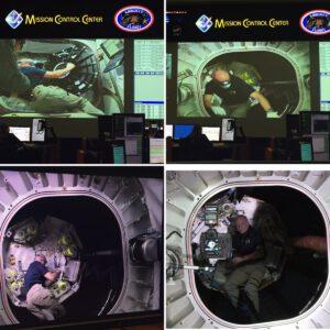 Série snímků z první návštěvy v modulu BEAM