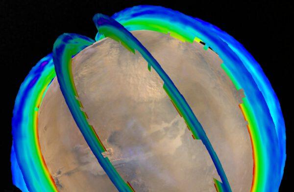 Průřez měřením teplotním profilem marsovské atmosféry. Hlavní zbraň při výzkumu marsovských bouří.