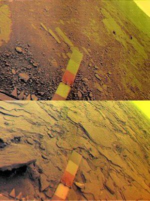 Povrch Venuše z Veněry 13 a 14