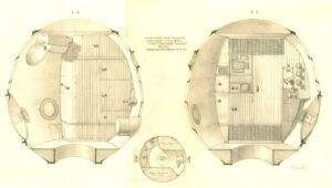 Konečná podoba interieru plánované kosmické lodi LOK 1969