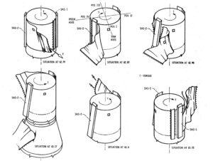 Pravděpodobný průběh odtržení protimeteoroidního štítu z OWS