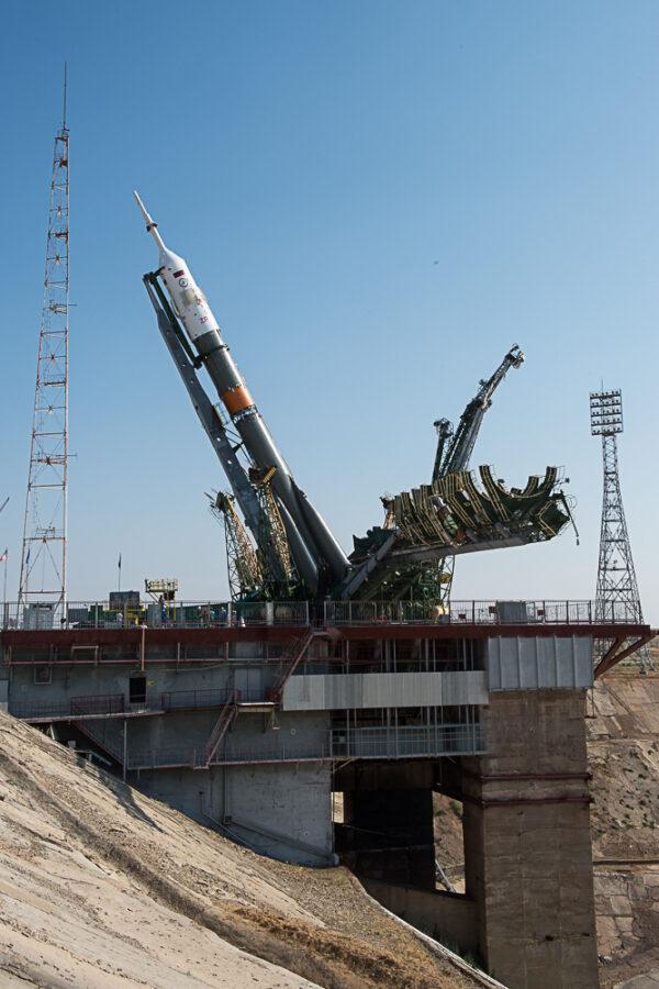 Sojuz už téměř vertikální.