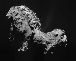 Kometa 67P vyfocená v září 2014 sondou Rosetta