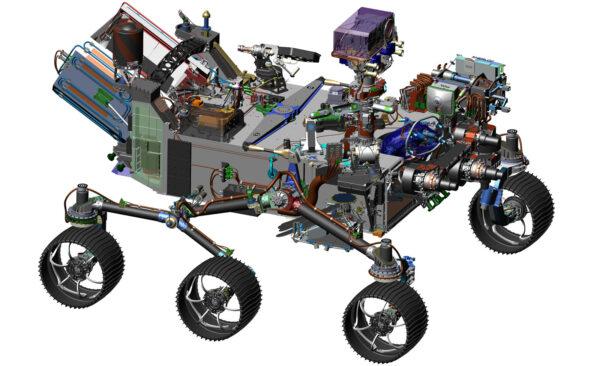 CAD model Mars rover 2020