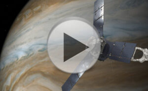 Juno u Jupiteru zdroj: nasa.gov