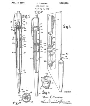Patent propisky Fisher Space Pen