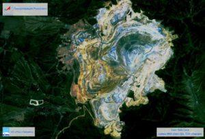 Snímek dolu na měď od satelitu AIST-2D