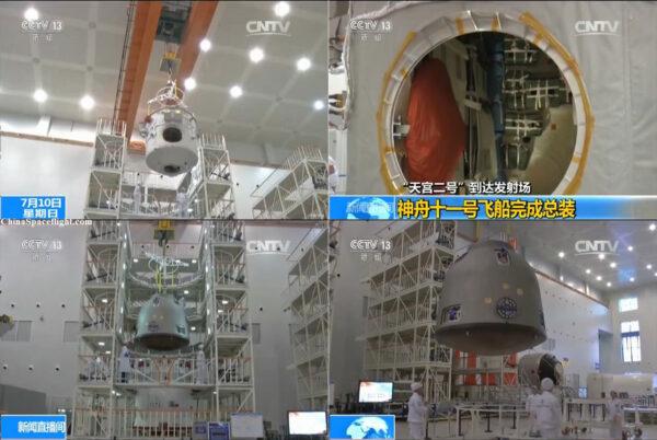 Příprava kosmické lodi Šenčou-11