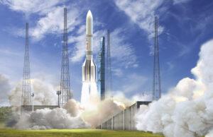 Vizualizace startu rakety Ariane 6