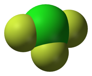 Molekula fluoridu chloritého