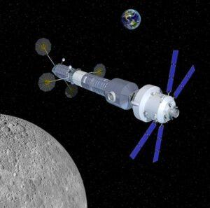 Možná podoba stanice s využitím modulů odvozených od nákladní lodi Cygnus.