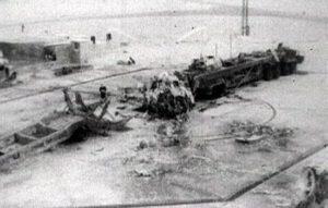 Pozůstatky rakety R-16 po Nedělinově katastrofě