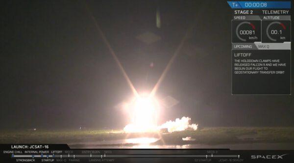 Falcon 9 v1.2 startuje