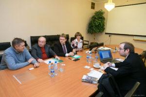 Jednání vedení IMPB RAN s M. Václavíkem z CSO. Foto: IMBP/Oleg Vološin
