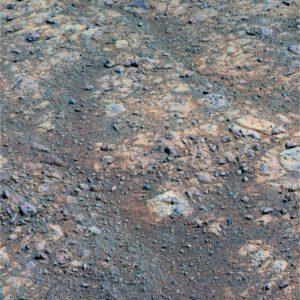 Červené zóny v horninách Marathon Valley na Marsu. NASA / JPL-Caltech / Cornell / ASU