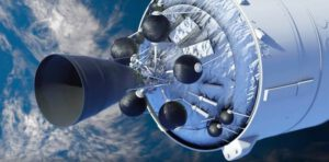 Vizualizace motoru Vinci na horním stupni Ariane 6