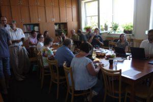 Účastníci pracovního workshopu mezi členy týmu přístroje CZENDA a vědci z IMBP RAN. Foto: ÚJF AV ČR
