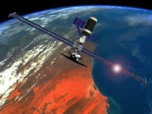 Skylab s energetickým modulem a raketoplánem