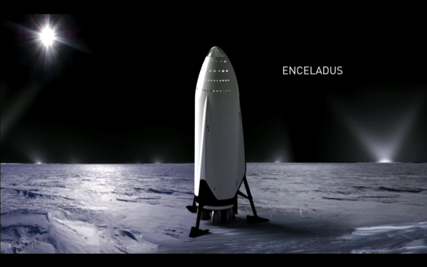 Vizualizace ITS na Enceladu.
