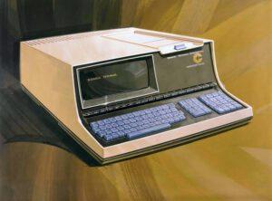 """""""Pradědeček"""" všech osobních počítačů Datapoint 2200. Kresba: John Frassanito"""