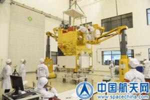 Příprava družice Gaofen-2
