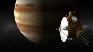 Sonda New Horizons využila k cestě k Plutu gravitační manévr u Jupitera (zdroj NASA)