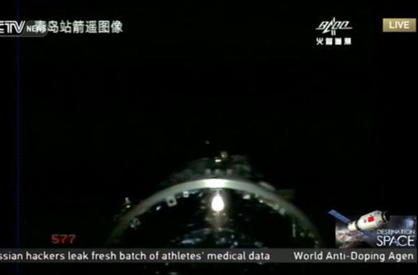 Tiangong-2 se odděluje od horního stupně.