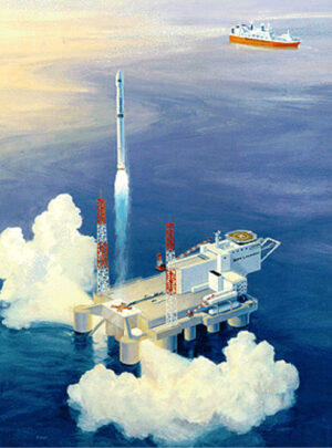 Umělecká představa programu Sea Launch.
