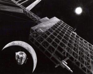 Umělecká představa solární družice SPS