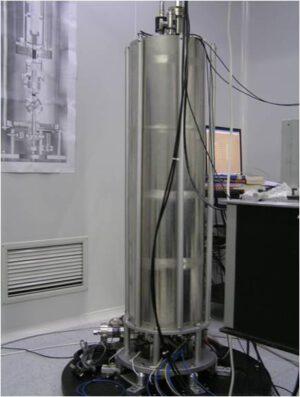 Atomové hodiny připravené pro stanici TG-2