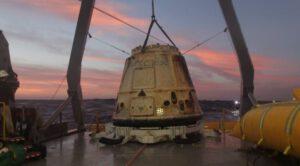 Dragon z mise SpX-5 po přistání