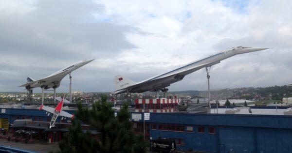 Nadzvuková letadla Concorde a TU-144 v Sinsheimu