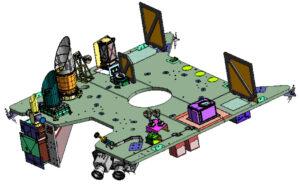 Umístění sledovačů hvězd na instrumentálním panelu
