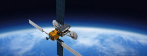 Jiná vizualizace pomocného satelitu po připojení k cílové družici