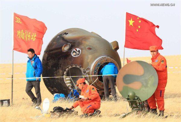 Loď ShenZhou 11 přistála