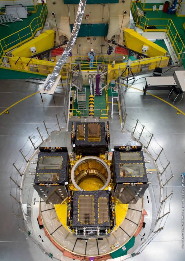 Snímek montážní oblasti z nadhledu