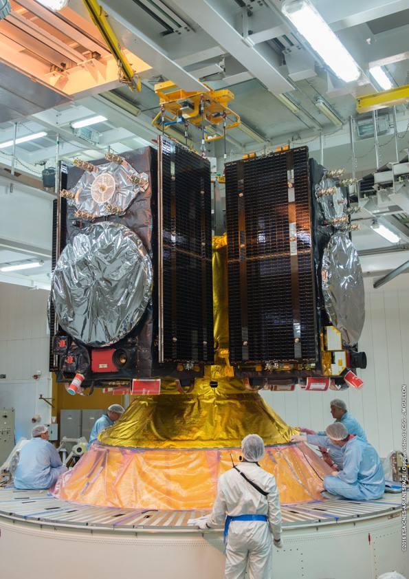 Každý satelit váží 675 kg a když roztáhne své solární panely, získá rozpětí téměř 19 metrů