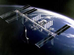 Zredukovaná orbitální stanice Freedom již v mnoha směrech připomínala budoucí ISS