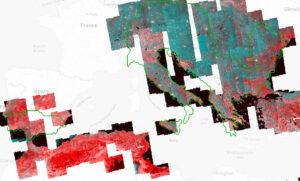 Snímkování evropských tektonických lokalit z družic Sentinel 1