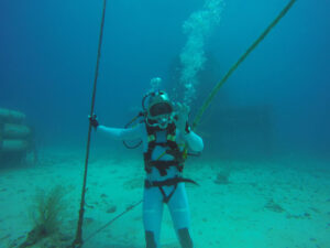 Thomas Pesquet při misi NEEMO-18