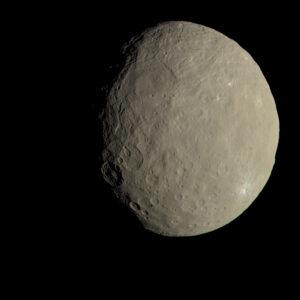 Trpasličí planeta Ceres v barvách