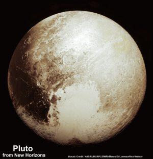 Sputnik Planum ve tvaru srdce