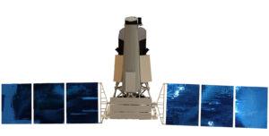 Hrubá vizualizace ruského rentgenového teleskopu Spektr-RG
