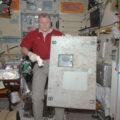 Oleg Novickij během svého prvního pobytu na ISS